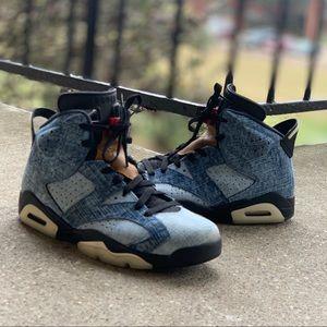 "Air Jordan Retro 6 ""Washed Denim"" Mens Size 8.5"